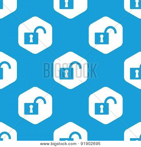 Open padlock hexagon pattern