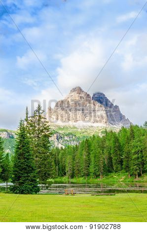 Beautiful mountain landscape of Dolomites