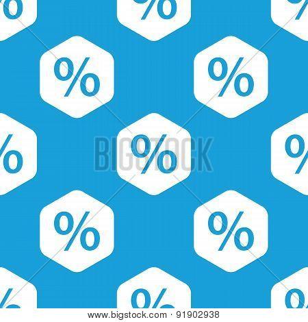 Percent hexagon pattern