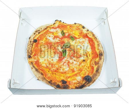 Margherita Pizza Background Isolated