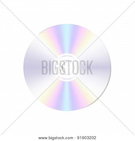 Vector realistic  blank compact disc CD or DVD