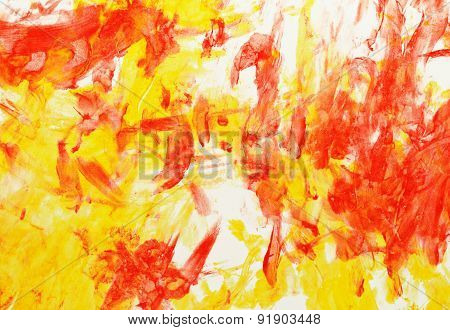 Picture In Yellow And Red Colors