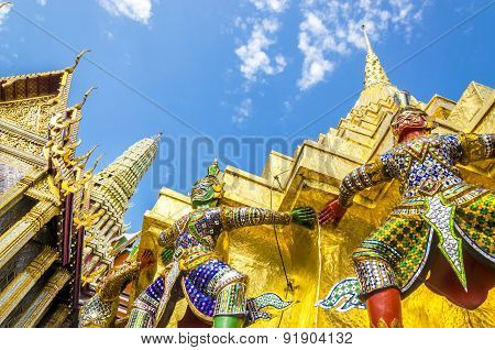 Warriors at the Emerald Buddha Temple, Thailand