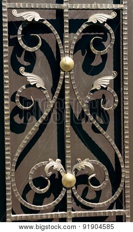 Detail Of A Beautiful  Fence
