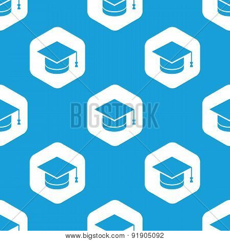 Academic hat hexagon pattern