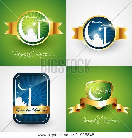 vector set of attractive background of ramdan kareem festival illustration