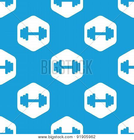 Barbell hexagon pattern
