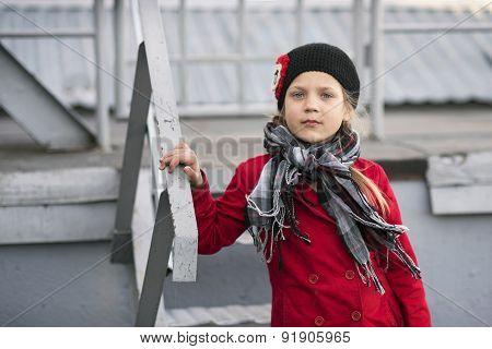 Girl On Ladders