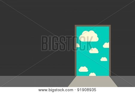 Door Leading To Sky