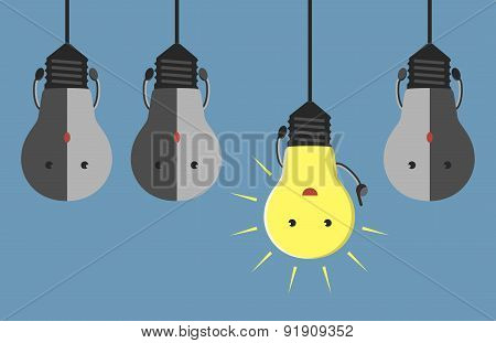 Light Bulb Characters Hanging