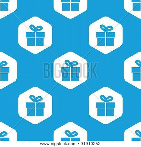 Gift box hexagon pattern