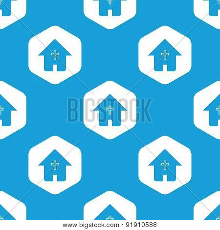 Christian house hexagon pattern