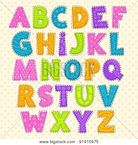 Cute Funny Childish Alphabet