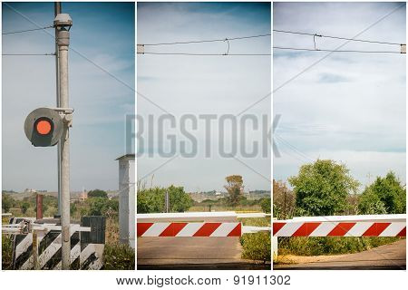 Red Traffic Light Crossing Level