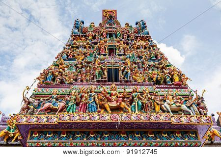 Hindu Temple In Little India, Singapore