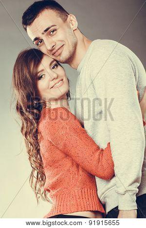 Smiling Young Couple Portrait