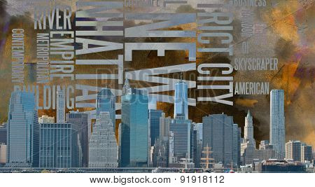 NYC Landscape with NYC based Text