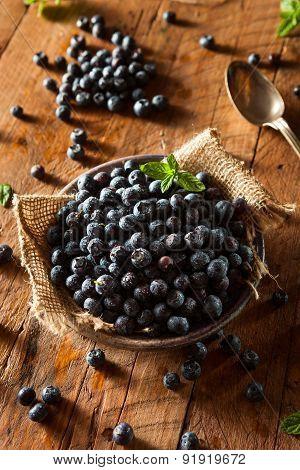 Fresh Raw Organic Blueberries