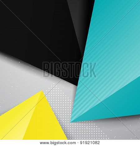 Geometric Triangle Bright Background