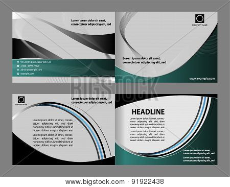 Abstract design vector template layout for magazine brochure flyer booklet cover