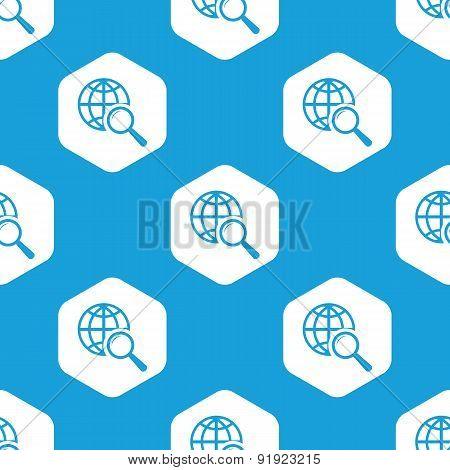 Global search hexagon pattern