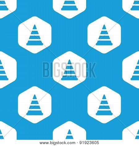 Traffic cone hexagon pattern