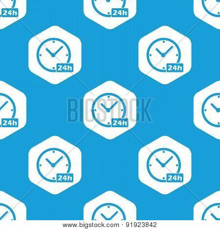 24h Workhours hexagon pattern
