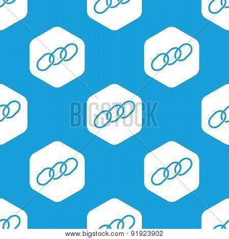 Chain hexagon pattern