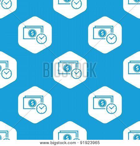 Money time hexagon pattern