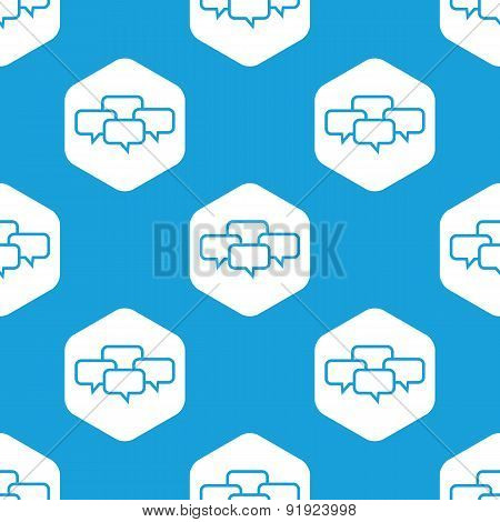 Conference hexagon pattern