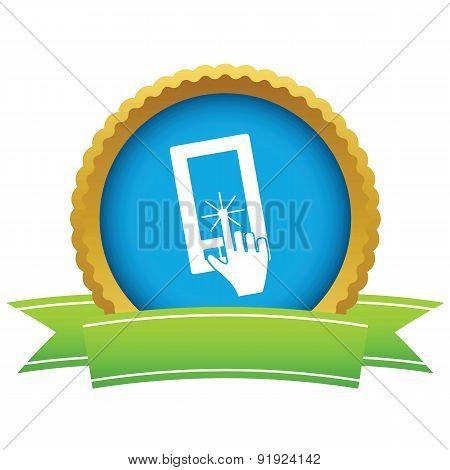Touching screen round icon