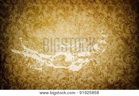 Grunge Paper Background With Patterns.