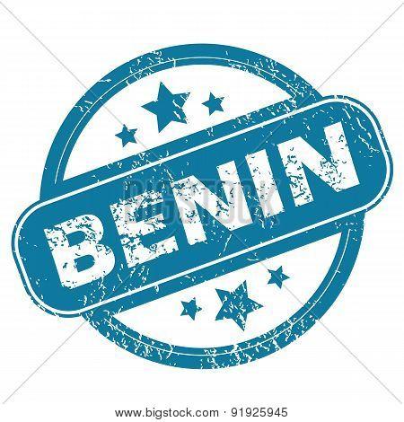 BENIN round stamp