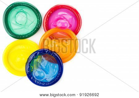 colorful condom