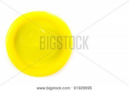 yellow condom