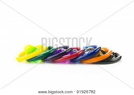 colorful condom