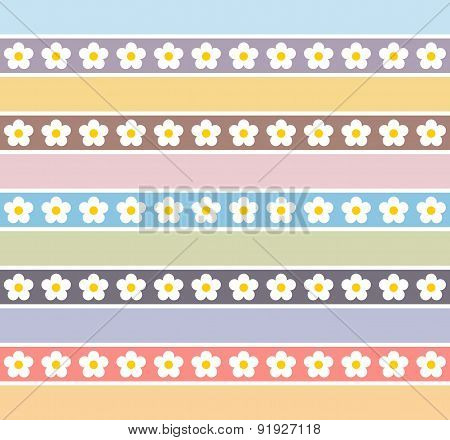 Floral Pattern In Pastel Colors