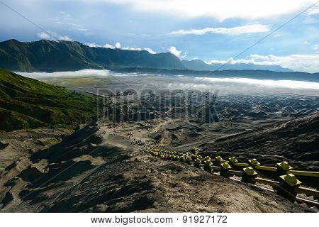 Desert Landscape At Tengger Semeru National Park