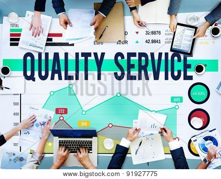 Quality Service Customer Satisfaction Quarantee Concept