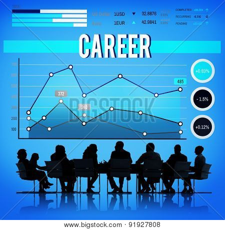Career Job Occupation Business Goals Concept