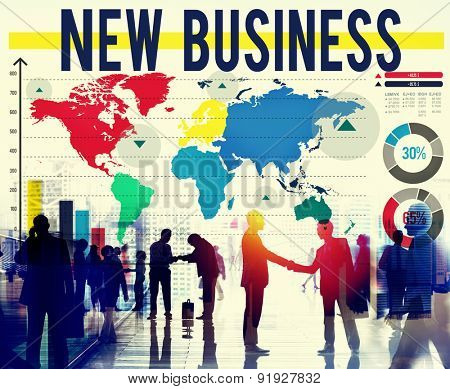 New Business Start Up Planning Creativity Ideas Concept