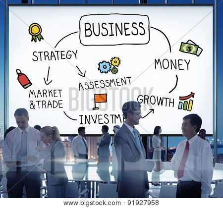 Business Growth Investment Market and Trade Concept