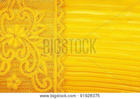 Gold Peach Lace silk