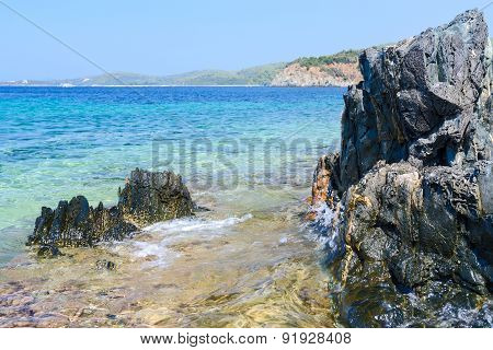 Rocks At The Picturesque Coast, Sithonia, Greece