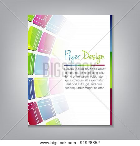 Business flyer template, brochure or corporate banner
