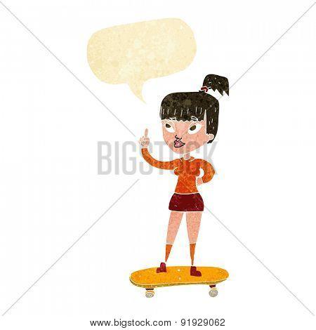 cartoon skater girl
