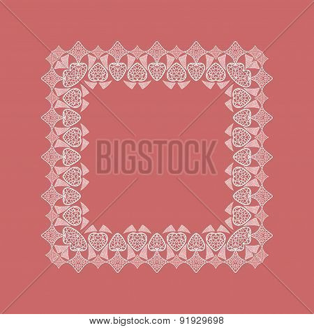 Ornamental lace square border