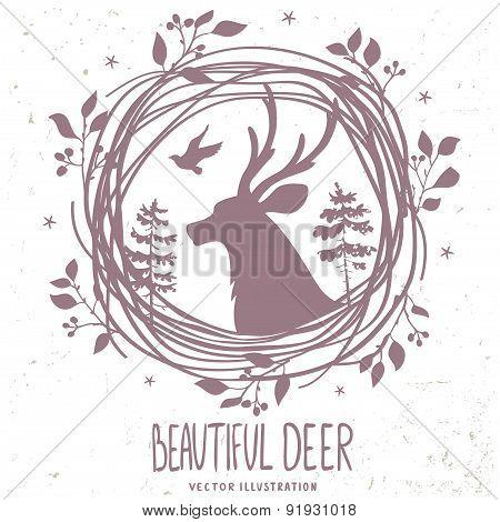 deer silhouette forestry