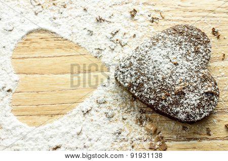 Chocolate Heart Cookies
