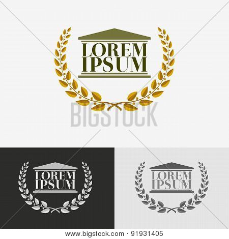 Lawyer logo design template.